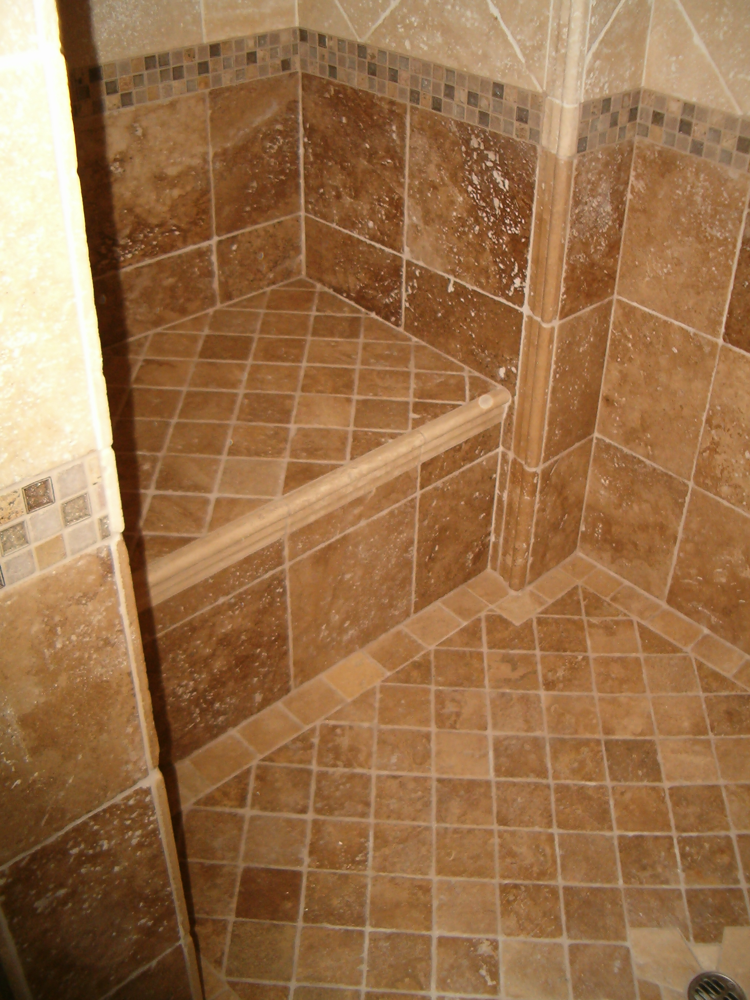 Shower anatomy for Tile shower bathroom ideas