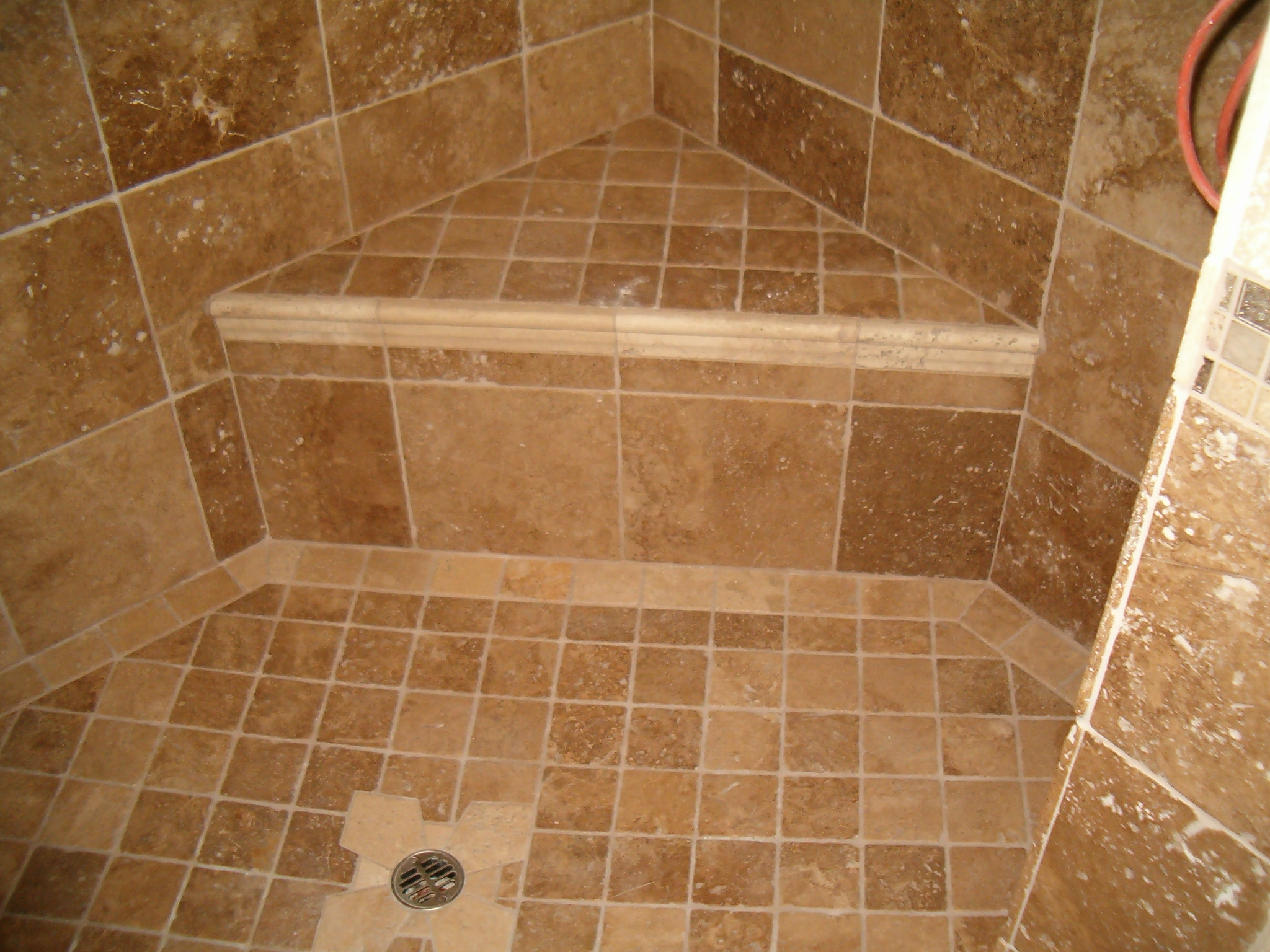 Shower anatomy for Ceramic bathroom tile designs