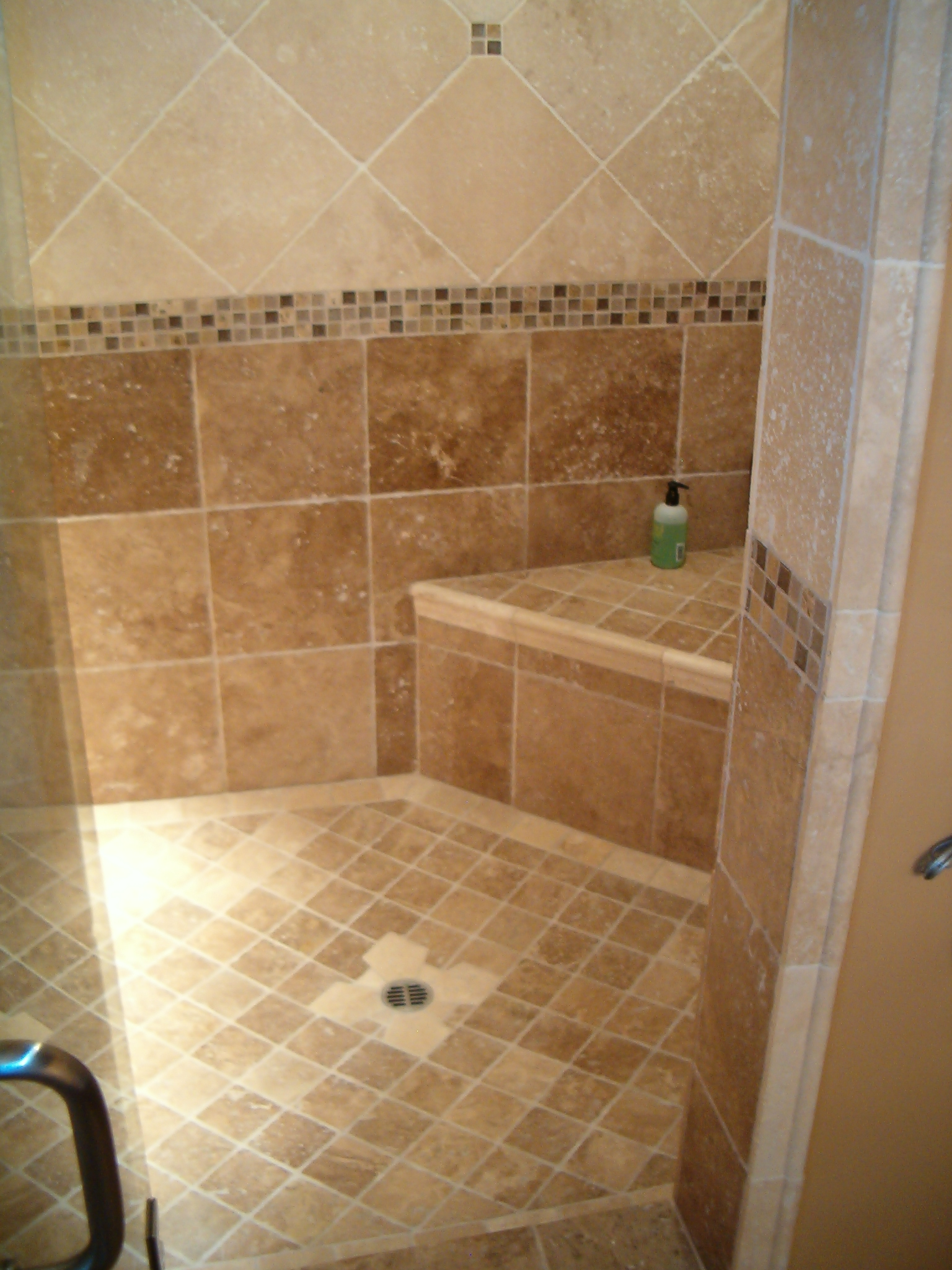 Can you tile over fiberglass shower stalls bathroom Tile shower stalls